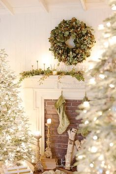 French Country Cottage Christmas Home Tour -  A sprinkling of magic, glitter and faux frosting   and a whole lot of Christmas cheer.         I am...