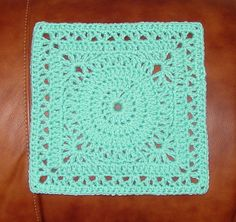 """Topaz 9 Inch Square pattern by Susan Hinton Could repeat rounds for 12"""""""