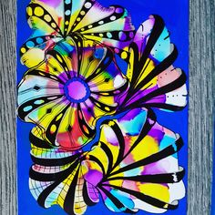 Aquafleur ZEN Doodle - EASY Zentangle Patterns – Alcohol Inks background COOL and Unique Technique Alcohol inks are a great way to create cool backgrounds an. Alcohol Ink Painting, Alcohol Ink Art, Zen Doodle, Doodle Art, Love Drawings, Easy Drawings, Zentangle For Beginners, Easy Zentangle Patterns, Cool Optical Illusions