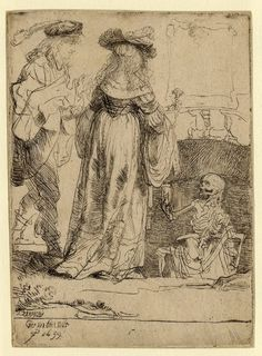 Rembrandt van Rijn, Death Appearing to a Wedded Couple from an Open Grave 1639