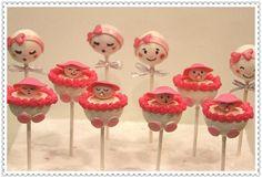 Baby Girl Cake Pops. $49.99, via Etsy. Baby Cake Pops, Baby Shower Cake Pops, Baby Girl Cakes, Baby Carriage Cake, Sugar Paste, Baby Birthday, Birthdays, Handmade Gifts, Shower Ideas