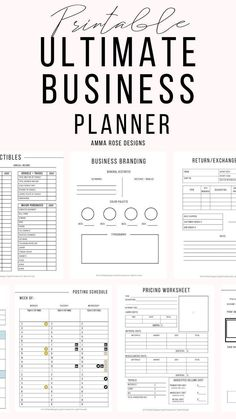 The Business Planner A printable workbook to grow and