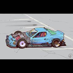 Weird Cars, Cool Cars, Jdm, Cool Car Drawings, Futuristic Art, Weapon Concept Art, Cyberpunk Art, Car Wallpapers, Art Cars