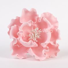 """Pink Gumpaste Extra Large Peony sugarflower cake toppers perfect for cake decorating rolled fondant wedding cakes and birthday cakes. Wholesale sugarflowers and wholesale cake supply. Extra Large Peonies - White Extra Large 6"""" Peonies - Pink. Caljava"""