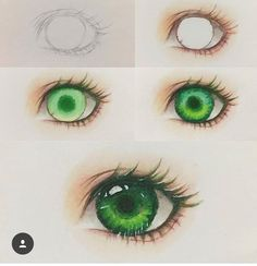 Ideas Anime Art Drawings Tekenen For 2019 Art Drawings Sketches, Cute Drawings, Pencil Drawings, Eyes Artwork, Marker Art, Poses References, Human Art, Anime Eyes, Drawing Tips