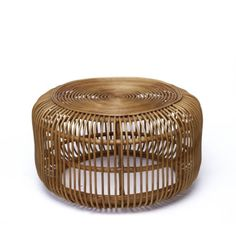 This versatile table is perfect addition to any living, retail, or office space. Measurement in inches (LxWxH): x *Available for local pick-up in Los Angeles* Rattan Ottoman, Rattan Coffee Table, Black Coffee Tables, White Coffee, Ottomans, Glass Cages, Mushroom Stool, Large Square Coffee Table, Furniture Boutique