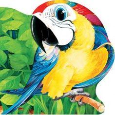 Papagalul - Editura Prut; Varsta: 6 luni+; Carticica iubita de micii copiasi pentru imaginile sale realiste si colorate frumos, nu prea strident carora li se alatura versuri de calitate, rime numai bune de recitat de mama sau de tata. Parrot, Disney Characters, Fictional Characters, Presents, Children Books, Bird, Animals, Birds, Tejidos