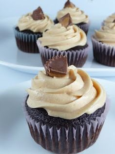 Chocolate with Peanut Butter frosting