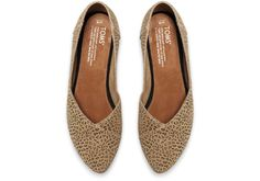 Cheetah Suede Printed Women's Jutti Flats | TOMS