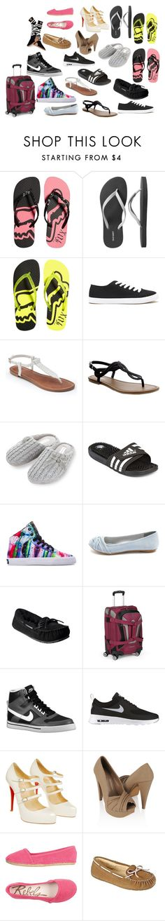 """""""summer vacation part 2 shoes"""" by tracybet ❤ liked on Polyvore featuring Old Navy, Forever 21, Apt. 9, Rocha.John Rocha, adidas, Supra, Charlotte Russe, High Sierra, NIKE and Christian Louboutin"""