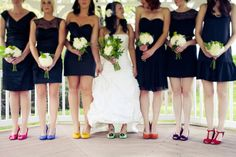 this is what rachel's wedding will look like :) look how short the bride is and the dresses are the right color