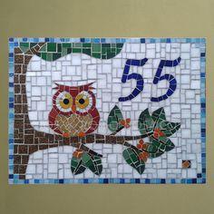 Número em mosaico - Coruja