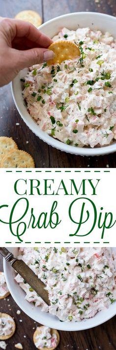 Creamy Crab Dip ValentinasCorner.com