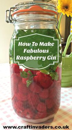 Raspberry Gin: How To Make The Best Pink Gin Raspberry gin is my most popular gin infusion by far. Not only does it taste delicious, this pretty pink gin is a gorgeous colour and a pleasure to drink. Homemade Alcohol, Homemade Liquor, Homemade Gifts, Gin Recipes, Cocktail Recipes, Cooking Recipes, Pina Colada, Fruit Gin, Ideas