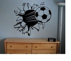 Soccer Ball sticker decal kids room decor sports football large bedroom wall diy