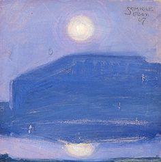 """""""Vollmond 1907"""" by Egon Schiele(1898-1918)."""