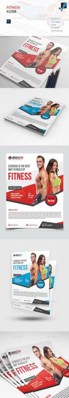 Fitness Flyer Design - Sport Event Flyer Template PSD. Download here: http://graphicriver.net/item/fitness-flyer/16499199?s_rank=114&ref=yinkira