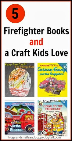 Firefighter Books and Easy Fire Craft/Coloring sheets. simple way to introduce fire safety to young kids by FSPDT Preschool Books, Preschool Lessons, Book Activities, Community Workers, Community Helpers, Safety Crafts, Fire Crafts, Fire Safety Week, Fire Prevention Week
