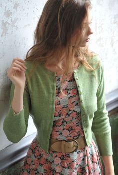 Cashmere Cropped Cardigan - artichoke.