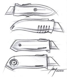 Box Cutter - Sketch a Day Drawing Sketches, Illustration Sketches, Illustrations, Drawings, Sketch A Day, Hand Sketch, Sketch Design, Design Model, Sketching Techniques