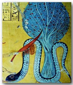 Ancient+Egyptian+River+Murals | Mural scene from the tomb of In-her-cha (INERKHAU), Deir el-Medina ...