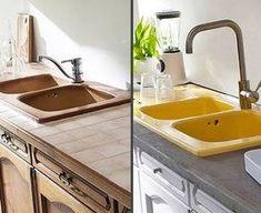 comment repeindre des meubles de cuisine   meuble de cuisine ... - Comment Peindre Du Carrelage De Cuisine