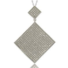 Suzy Levian Sterling Silver Cubic Zirconia Pendant