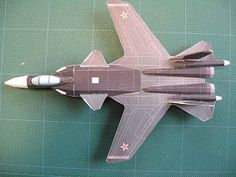 These paper models are based on current military aircrafts used by the United States, Japan, European Union, Russia, and some other countries that are able to afford it. The list of airplanes include the ever popular United States Navy Blue Angels (Navy Flight Demonstration Squadron) and F-22 Raptor, the British Harrier Jump Jet, and the most recent addition to the collection, a Russian Sukhoi SU-47.