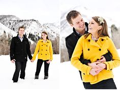 Tracie + Johnny's Snowy White Engagement Shoot That guy totally looks like Prince William from a distance