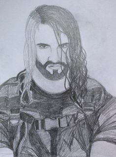 Seth Rollins as a drawing. Still hot as hell!!