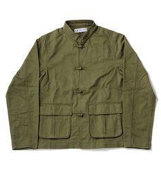 China Button Military Jacket