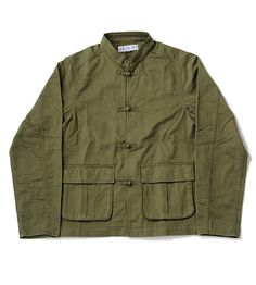 China Button Military Jacket