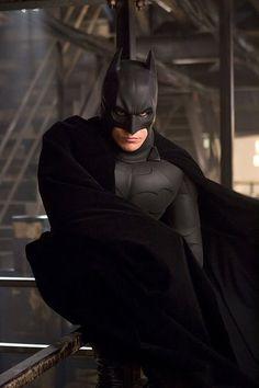 "Publicity shot of Christian Bale from ""Batman Begins"" - 2005."