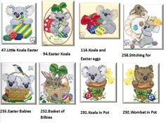 These aresome of my Easter designs. All are available at  www.carrolsx-stitch.com