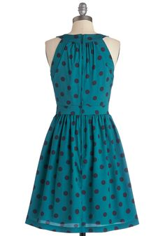 Gals' Night Haute Dress. Grab your girls and this gorgeous garment and watch as your night comes to fun fruition! #blue #modcloth