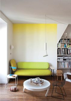 Pretty Ombre Wall Paint Designs Ideas For Living Room 29 Decor, Interior, Wall Paint Designs, Interior Walls, Home Decor, House Interior, Home Deco, Interior Design, Wall Design