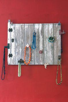 Barn Window Jewelry Display Piece by RebelAndNail on #Etsy