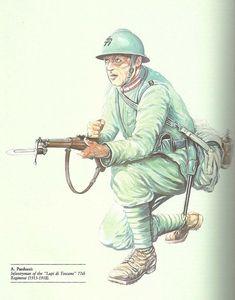 """Regio Esercito - Fante del 77° reggimento """"Lupi di Toscana"""", 1915-18"""