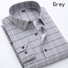 2018 New Shirt Arrived Male Printed Spring Casual Dress Shirts Long Sleeves Camisa Masculina Streetwear Man's Clothes Casual Shirts For Men, Men Casual, Formal Shirts, Shirt Collar Styles, Spring Dresses Casual, Business Shirts, Men Formal, Spring Shirts, Plaid Fashion