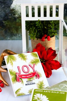 Hero Arts | Great Tidings Of Joy - Scrapbook & Cards Today Christmas 2017, Christmas Cards, Hero Arts Cards, Joy To The World, Winter Cards, Cool Cards, Scrapbook Cards, Happy Holidays, Card Making