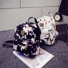 Women Backpack 2016 Hot Sale Fashion Causal Floral Printing Backpacks PU Leather Backpack For Teenagers Girls Mochilas Bolas