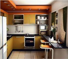 Cocinas modernas en espacios limitados.