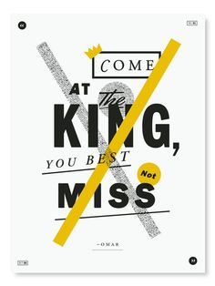 Oliver Munday, posters based on The Wire. Season 1 Episode 8