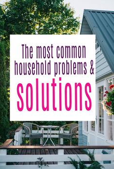 Here are simple ways to adderss the most common household problems and solutions and to make sure your home is shipshape and in tip tp condition. Truly simple DIY solutions    #diy #easydiy #householf #home
