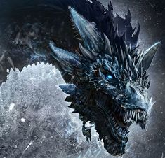 Viserion is a dragon that the Night King slayed and reanimated as a wight. He is one of the three dragons born in the Dothraki Sea, along with Drogon and Rhaegal, and is named after Daenerys Targaryen's elder brother, Viserys. Ice Dragon Game Of Thrones, Dragon Tattoo Game Of Thrones, Game Of Thrones Dragons, Game Of Thrones Art, Dragon Tattoo Got, Mythical Creatures Art, Fantasy Creatures, Dragons Got, Fantasy Dragon