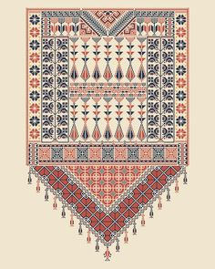 Vector Tatreez pattern design with Palestinian traditional embroidery motif vector illustration Embroidery Motifs, Embroidery Patterns, Cross Stitch Designs, Cross Stitch Patterns, Motif Vector, Palestinian Embroidery, Cross Stitch Samplers, Illustrations, Culture