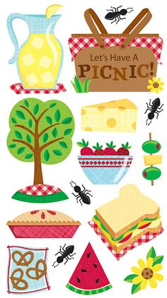 Beach > Picnic Ants Stickers - EK Success: Stickers Galore  $1.69