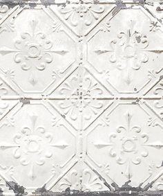 Another great find on #zulily! Silver Vintage Tin Tile Wallpaper Decal #zulilyfinds