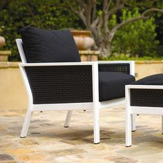 Koverton Parkview Woven Deep Seating Club Chair Wicker Panels: White, Cushion Color: Dupione Oak, Frame Finish: Gloss White