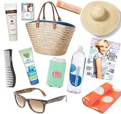What's in your beach bag? Via: Style Me Swanky